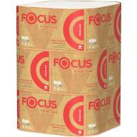 Купить полотенце бумажное листовое 2-сл 200 лист/уп 230х230 мм v-сложения focus premium белое hayat 1/15 в Москве