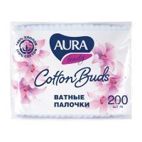 Купить палочки ватные 200 шт/уп aura в мягкой упаковке kk 1/48 в Москве