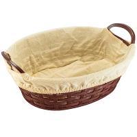 Купить корзинка для хлеба дхшхв 280х200х95 мм с ручками и чехлом овальная пластик темно-коричневая bora 1/60 в Москве