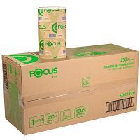 Купить полотенце бумажное листовое 1-сл 250 лист/уп*15 230х210 мм v-сложения focus eco белое hayat 1/1 в Москве