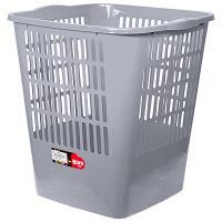 Купить корзина мусорная 16л дхшхв 280х300х320 мм пластик серый bora 1/23 в Москве