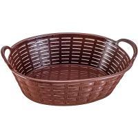 Купить корзинка для хлеба дхшхв 240х172х90 мм с ручками овальная пластик темно-коричневая bora 1/120 в Москве