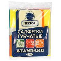 Купить салфетка губчатая целлюлозная дхш 160х140 мм 3 шт/уп standard textop 1/180 в Москве