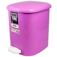 Купить контейнер мусорный прямоугольный 10л дхшхв 250х320х290 мм с педалью пластик розовый bora 1/6 в Москве