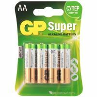 Купить батарейка aa 4 шт/уп gp super в блистере 1/10 в Москве