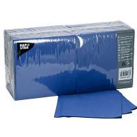 Купить салфетка бумажная синяя 33х33 см 3-слойные 250 шт/уп papstar 1/4 в Москве