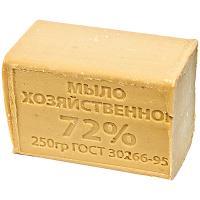 Купить мыло хозяйственное 250г 72% без упаковки темное 1/48 в Москве