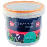 Купить контейнер круглый 0.33л н80хd90 мм полоса оранжевая пластик bora 1/12 в Москве