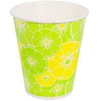 Купить стакан бумажный 300мл d90 мм 1-сл для холодных напитков цитрус v 1/50/800 в Москве