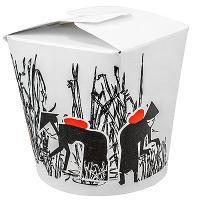 Купить контейнер бумажный china pack 750мл н95хd90 мм с декором силуэт 1/50/500 в Москве