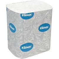 Купить бумага туалетная листовая 2-сл 200 лист/уп дхш 186х110 мм kleenex с голубым тиснением белая kimberly-clark 1/36 в Москве