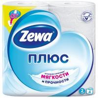 Купить бумага туалетная 2-сл 4 рул/уп zewa плюс белая 1/24 в Москве