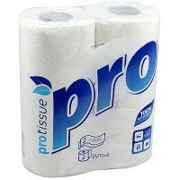 Купить полотенце бумажное 2-сл 2 рул/уп мягкий знак pro белое protissue 1/24 в Москве