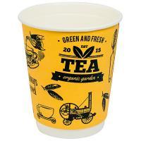 Купить стакан бумажный 250мл d80 мм 2-сл для горячих напитков кофе тайм v 1/30/600 в Москве