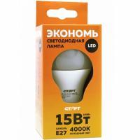 Купить лампа светодиодная e27 холодный свет 15w 220v eco груша старт 1/10 в Москве