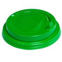 Купить крышка для стакана d80 мм с закрытым питейником ps зеленая 1/100/1000 в Москве