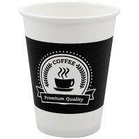 Купить стакан бумажный 350мл d90 мм 1-сл для горячих напитков premium quality ep 1/50/1000 в Москве