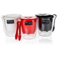 Купить ведерко для льда н172хd155 мм со щипцами пластик красное bora 1/12 в Москве