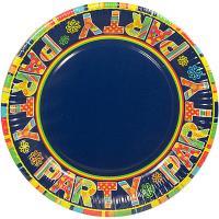 Купить тарелка бумажная d230 мм с дизайном party картон papstar 1/100/500 в Москве