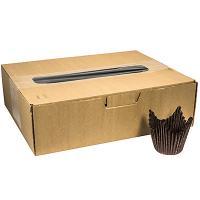 Купить капсула бумажная (тарталетка) корона н70хd50 мм коричневая 1/1000/10000 в Москве
