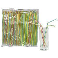 Купить соломка (трубочка) для коктейля н210хd5 мм 250 шт/уп pp прозрачная с полосой 1/48 в Москве