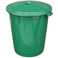 Купить бак мусорный круглый 105л н660хd600 мм пластик зеленый пхт 1/1 в Москве