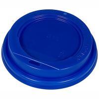 Купить крышка для стакана d90 мм с открытым питейником ps синяя 1/100/1200 в Москве