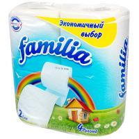 Купить бумага туалетная 2-сл 4 рул/уп familia радуга белая hayat 1/16 в Москве