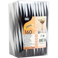 Купить соломка (трубочка) для коктейля н150хd8 мм 160 шт/уп pp черная/белая papstar 1/8 в Москве