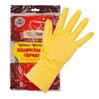 Купить перчатки хозяйственные xl home comfort латекс textop 1/12/240 в Москве