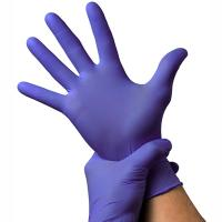 Купить перчатки одноразовые нитриловые m 100 шт/уп фиолетовые 1/10 в Москве