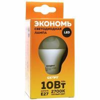 Купить лампа светодиодная e27 теплый свет 10w 220v eco груша старт 1/10 в Москве
