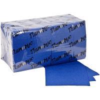 Купить салфетка бумажная синяя 24х24 см 1-сл 400 шт/уп папирус 1/18 в Москве