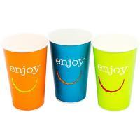 Купить стакан бумажный 400мл d90 мм 1-сл для холодных напитков enjoy huhtamaki 1/50/1000 в Москве