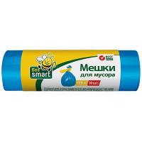 Купить мешки (пакеты) для мусора 120л 650х1000 мм 12 мкм в рулоне пнд синий 1/10/400 в Москве