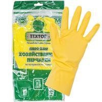 Купить перчатки хозяйственные m turbo clean латекс textop 1/12/300 в Москве