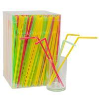 Купить соломка (трубочка) для коктейля н240хd5 мм 1000 шт/уп эконом pp цветная 1/8 в Москве