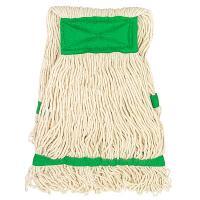 Купить насадка - моп (mop) для швабры веревочная петлевая с зеленой прошивкой kentucky 350 г белая хлопок hunter 1/35 в Москве