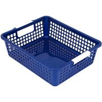 Купить корзинка дхшхв 274х215х82 мм пластик синяя bora 1/48 в Москве