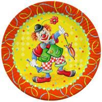 Купить тарелка бумажная d230 мм с дизайном клоун картон papstar 1/10/200 в Москве