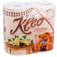 Купить бумага туалетная 3-сл 4 рул/уп kleo ваниль белая сцбк 1/18 в Москве