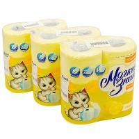 Купить набор бумаги туалетной 2-сл 4 рул/уп*3 мягкий знак comfort лимон сцбк 1/1 в Москве
