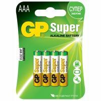 Купить батарейка aaa 4 шт/уп gp super в блистере gp 1/10 в Москве