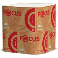 Купить бумага туалетная листовая 2-сл 250 лист/уп дхш 250х110 мм v-сложения focus premium белая hayat 1/30 в Москве