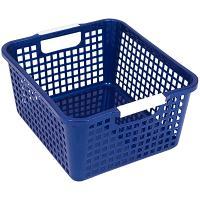 Купить корзинка дхшхв 258х223х125 мм пластик синяя bora 1/48 в Москве