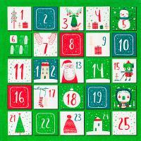 Купить салфетка бумажная 33х33 см 3 -сл 20 шт/уп рождественский календарь papstar 1/15 в Москве