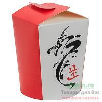 Контейнер бумажный CHINA PACK 750мл Н95хD90 мм с декором КИТАЙ 1/50/500