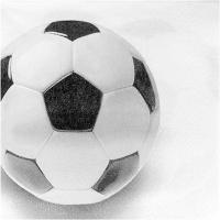 Купить салфетка бумажная 33х33 см 3-сл 20 шт/уп футбольный мяч papstar 1/15 в Москве