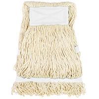 Купить насадка - моп (mop) для швабры веревочная петлевая с белой прошивкой kentucky 450 г белая хлопок hunter 1/25 в Москве