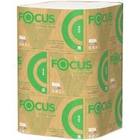 Купить полотенце бумажное листовое 1-сл 200 лист/уп 230х210 мм v-сложения focus eco белое hayat 1/15 в Москве